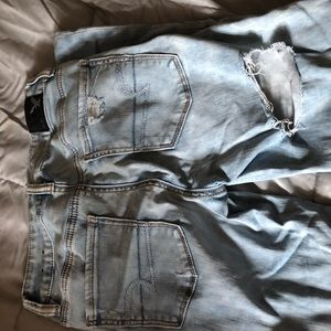 AE distressed jeans size 4 high waisted
